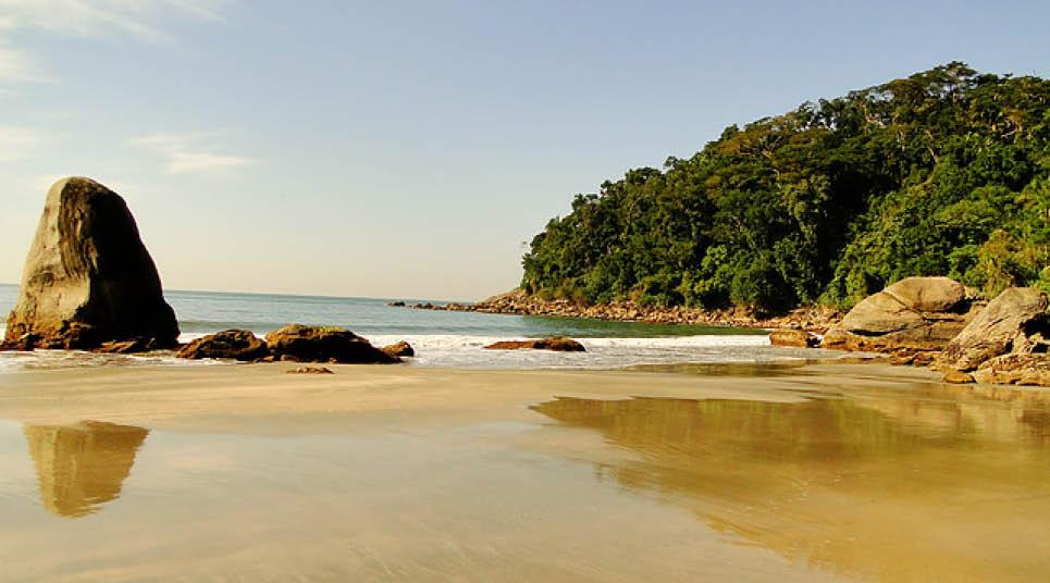 Praia Preta, no Guarujá