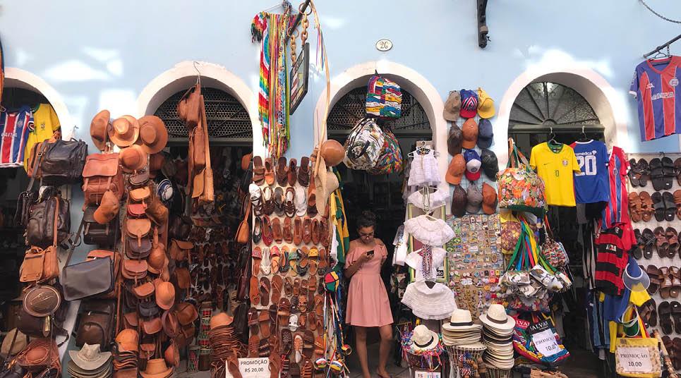 Loja de artesanato no Pelourinho