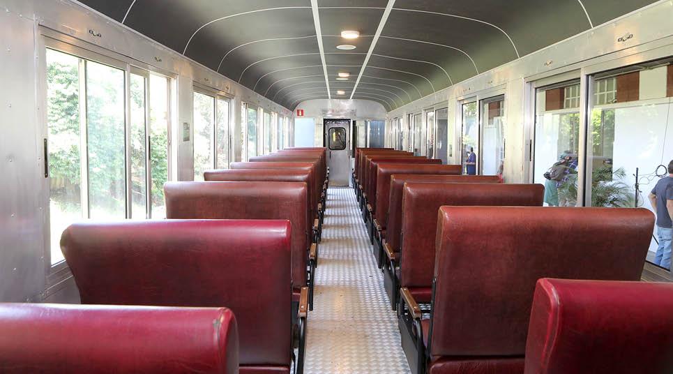Interior do Trem Republicano