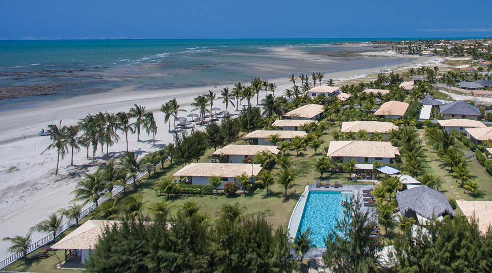 Vista aérea do Hotel Vila Selvagem