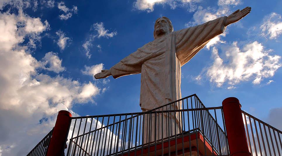 O Cristo em miniatura da cidade de Socorro
