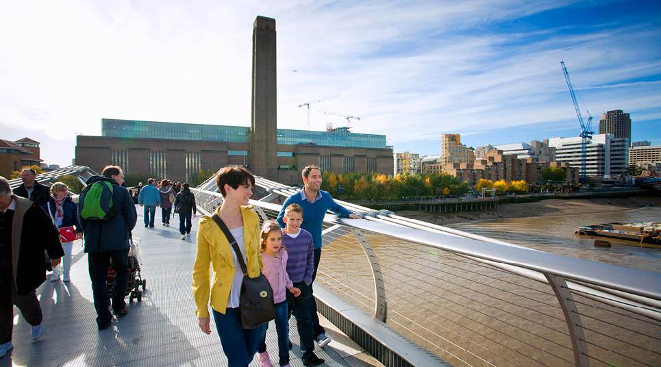 O museu Tate Modern ao fundo