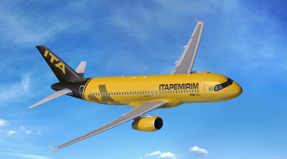 Avião da companhia aérea Itapemirim