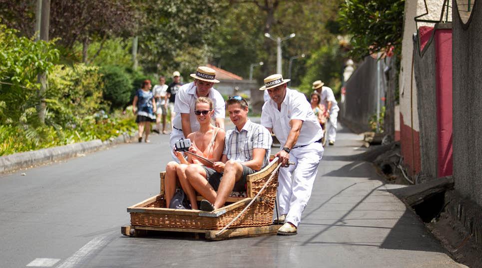 Carro de cesto em Funchal